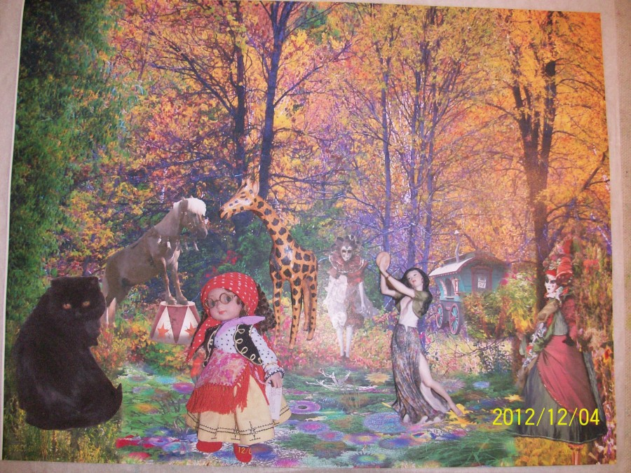 a fairyland art quilt by Karin E Weiss