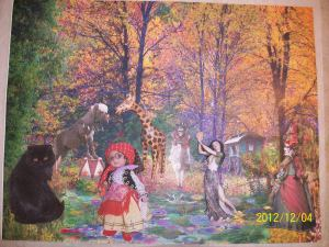 a fairyland art quilt by Karin E Weiss