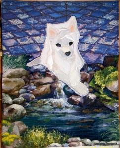 Foxy puppy quilt